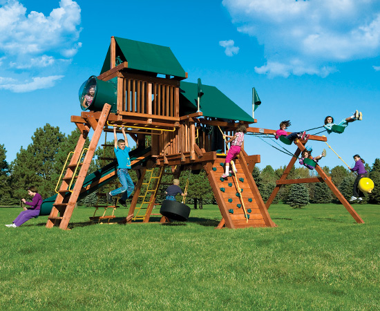 Play Systems by Rainbow Play Systems - Rainbow Play Systems San Antonio Outdoor Playsets Wooden