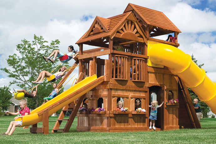 Rainbow Play Systems San Antonio Outdoor Playsets Wooden