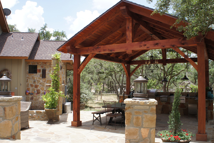 outdoor pavilion covered patio outdoor room backyard pavilion