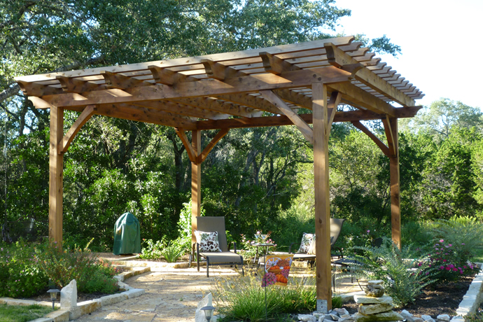 Pergolas san antonio pergola plans outdoor living for Pergola designs