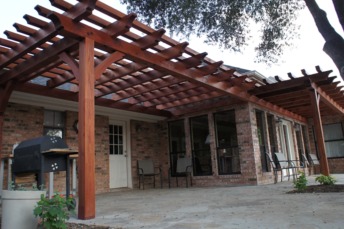 HOMEFIELD Outdoor Pergolas - Pergolas San Antonio Pergola Plans Outdoor Living Cedar