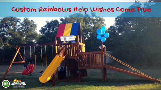Custom Rainbow Play Systems Make Wishes Come True