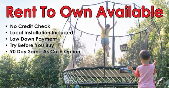 Rent To Own Trampolines & Swing Sets